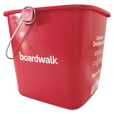 18-BWKKP196RD - Boardwalk Sanitizing Bucket 6 qt Red Plastic