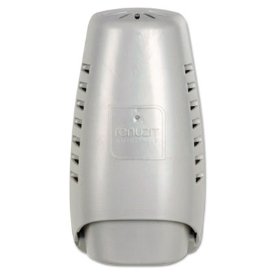 "Renuzit Wall Mount Air Freshener Dispenser, 3.75"" x 3.25"" x 7.25"", Silver"