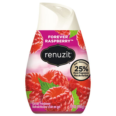 Renuzit Adjustables Air Freshener, Forever Raspberry, 7 oz Solid, 12/Carton