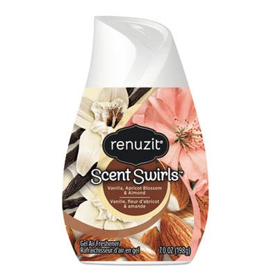Renuzit Adjustables Air Freshener, Vanilla, Apricot Blossom and Almond, 7 oz Solid, 12/Carton