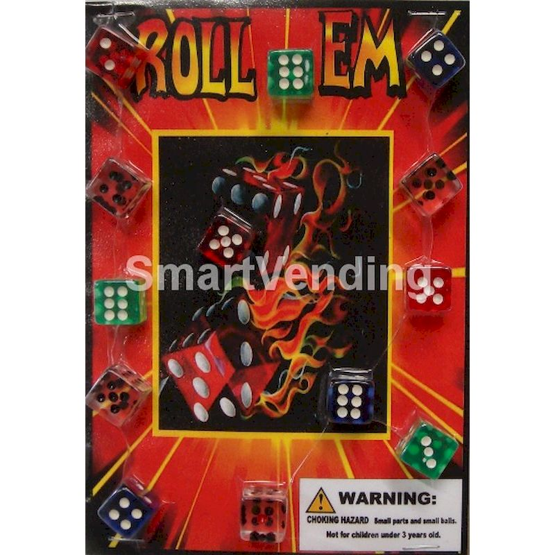 30-ROLDCC1 - Roll 'em Dice in 1.1 inch Capsules (250 ct.) HOT HOT HOT!
