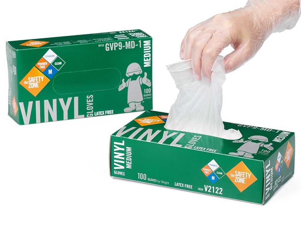 Safety Zone Vinyl Glove Powder Free - Large 100 ct.