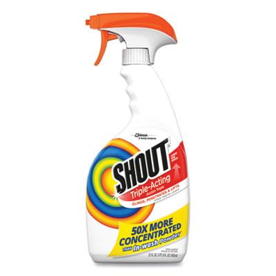 Shout SC Johnson Laundry Stain Treatment 22 oz Spray Bottle, 8/Carton