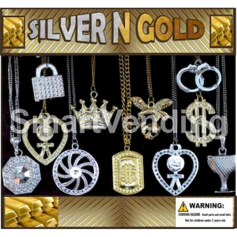30-SLGLC2 - Silver & Gold 100% Necklaces in 2 inch Capsules (250 ct.)