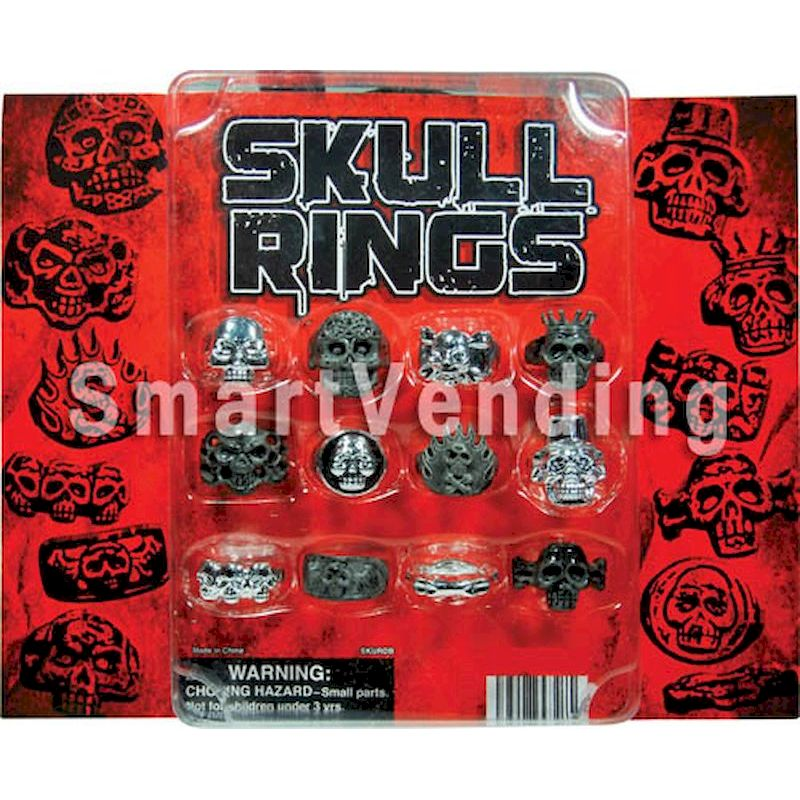 30-SKRGC2 - Skull Rings in 2 inch Capsules (250 ct)