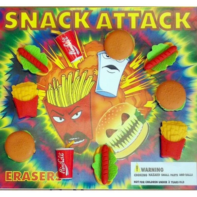 30-SNATC2 - Snack Attack Fast Food Erasers in 2 inch Capsules (250 ct.)