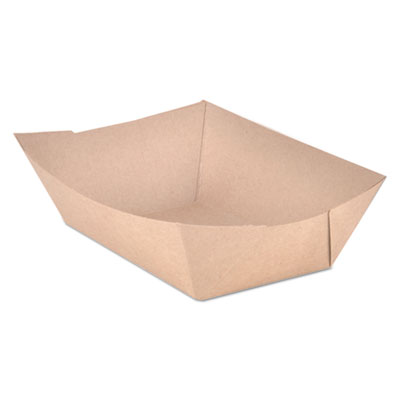 SCT Food Trays Paperboard Brown Kraft 3-Lb Capacity 500/Carton