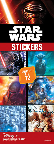 40-SWCS - Star Wars Classic Stickers 12 Designs in Folders with FREE Display (300 ct.)