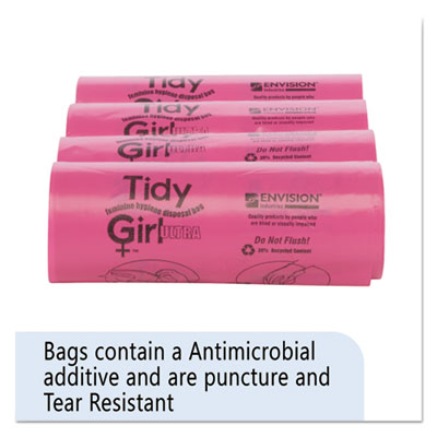 "Stout Feminine Hygiene Sanitary Disposal Bags 4"" x 10"" Natural 600/Carton"