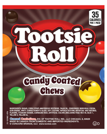 18298 - Tootsie Roll Candy Coated Chews (1,160 ct) 25 lbs